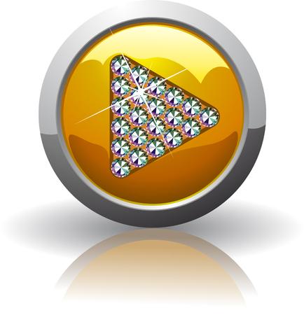 Symbol of the play, inlaid with precious stones Swarovski Vector