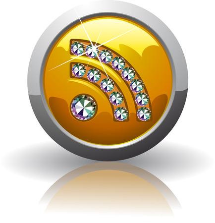 Symbol of the rss, inlaid with precious stones Swarovski Illustration