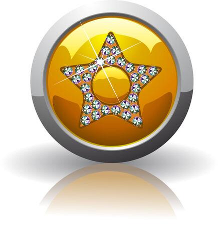 favoritos: S�mbolo de los Favoritos, incrustados de piedras preciosas Swarovski Vectores
