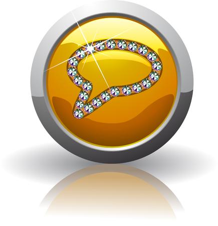 Symbol of the help, inlaid with precious stones Swarovski