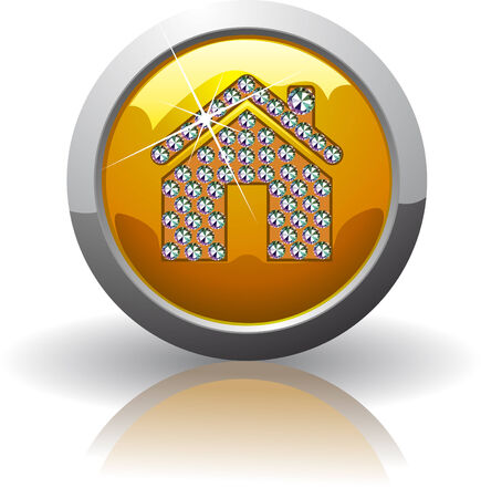 Symbol of the Internet home, inlaid with precious stones Swarovski