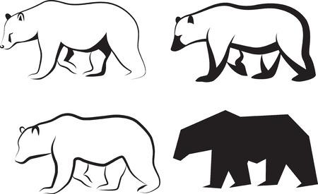 bear paw: illustration bear.  Illustration