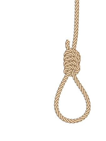 Hangmans noose  Illustration