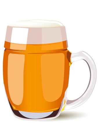 beer mug isolated on a white background.  Illustration