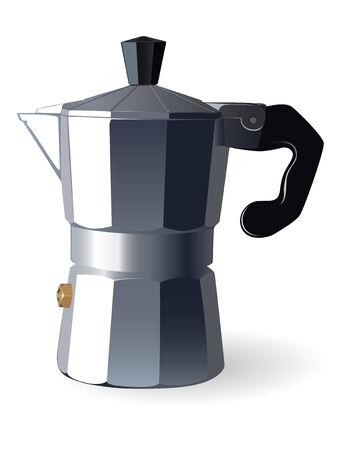 Italian espresso machine. Vector Illustration  Vector