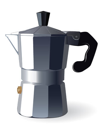 Italian espresso machine. Vector Illustration