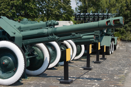 Historical cannon of World War II period at national museum photo