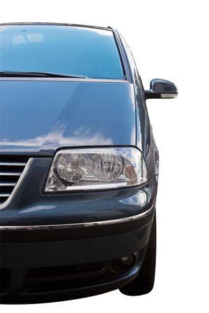 Photo of  mini-van isolated over white background photo