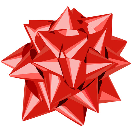 Vector illustration of red gift bow Vector