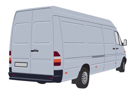 Vector illustration of bussines cargo van Vector