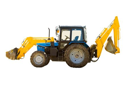 wheeled tractor: Universal wheeled tractor isolated over white background