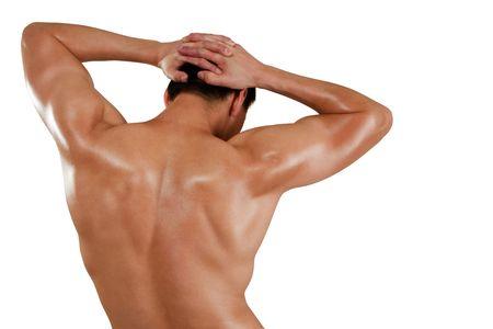 Muscular strong man isolated over white Reklamní fotografie