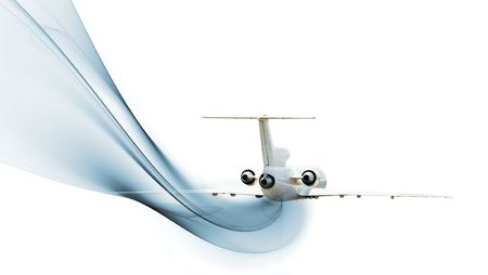 airliner: Commercial airliner isolated over white background