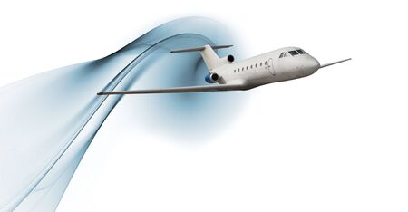 Commercial airliner isolated over white background photo