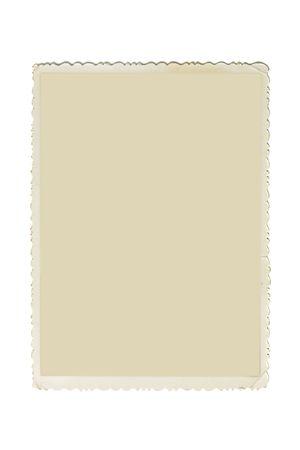 festonati: Cornice foto retr� con bordi dentellate e copia spazio interno isolato su sfondo bianco