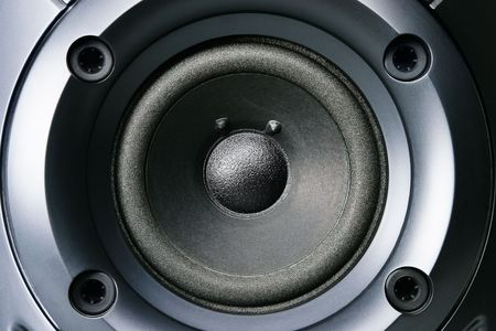 Big stereo loud speaker close up photo