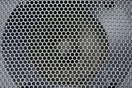 loud speaker: Abstract loud speaker aluminum grill texture