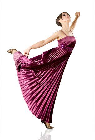 Beautiful young woman dancing classic ballet photo