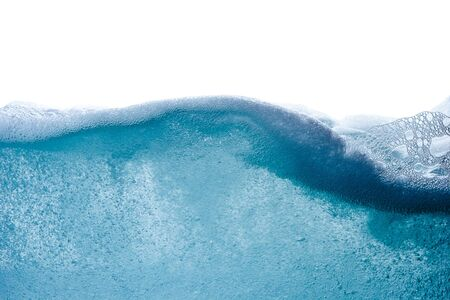 Blue water wave abstract background isolated on white photo