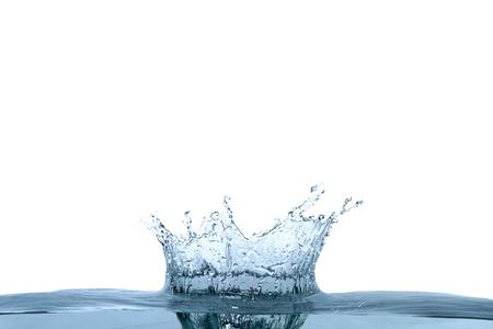 puro: Fondo abstracto de agua azul ola aislado en blanco Foto de archivo