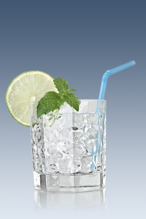 mojito cocktail with mint leaf and lime Stock Photo - 9883546