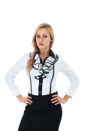 Young businesswoman in formal clothing isolated over white background Stock Photo - 12285741