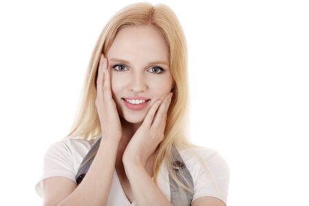 Beautiful blonde young woman studio portrait Stock Photo - 14723540