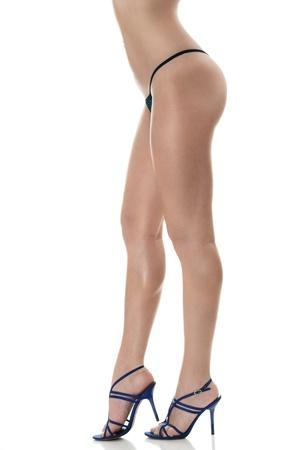 hintern: Schöne sexy Frauen lange Beine isoliert auf weißem Hintergrund