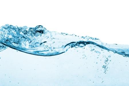 splashed: blue water splash isolated on white background Stock Photo