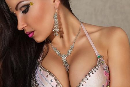 Beautiful young sensual woman studio portrait