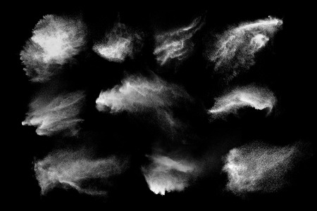 Abstract design of white powder cloud against dark background Фото со стока - 28624367