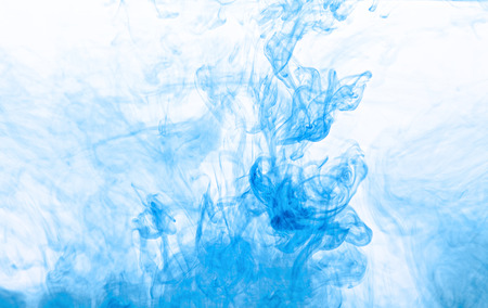 blue smoke: Abstract background of watercolor paints in water