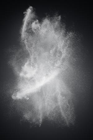 Disegno astratto di nube di polvere bianca su sfondo scuro Archivio Fotografico - 28624431
