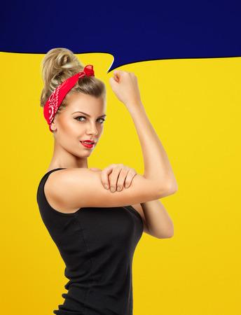 can: Modern design inspired by classic american poster - We can do it yes we can, we can do it