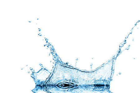 Splash water wave abstract isolated over white background photo