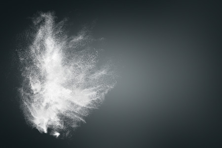 Abstract design of white powder cloud against dark background 版權商用圖片 - 30489810