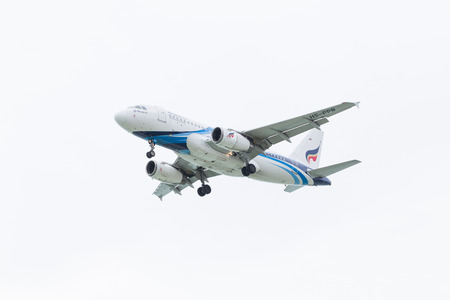 jule: KOH SAMUI, THAILAND - Jule 23: Bangkok Airways Airbus A319 (HS-PPB) landing on Jule 23, 2014 at Koh Samui International Airport, Koh Samui, Thailand.