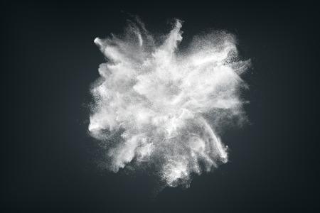 暗い背景の白い粉の雲の抽象的な設計 写真素材