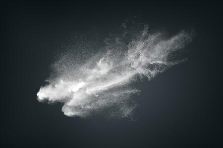 humo: Diseño abstracto de la nube de polvo blanco sobre fondo oscuro