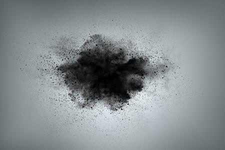Diseño abstracto de la nube de polvo negro sobre fondo gris Foto de archivo - 39655742