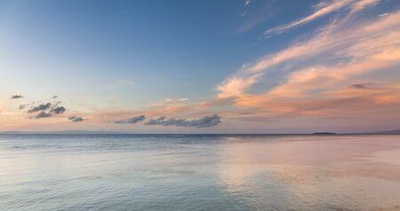 bohol: Stunning sunrise over Bohol sea water, Philippines.