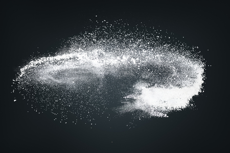 Abstract design of white powder cloud against dark background 版權商用圖片 - 77698595