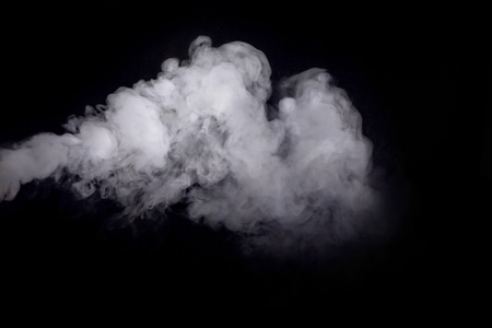 Abstract design of white smoke cloud against dark background