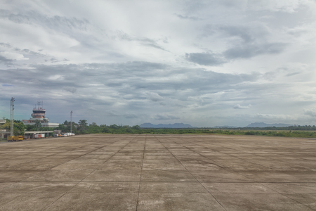 Abstract photography of empty airport airfield