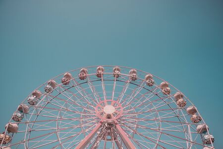 Low angle view of empty ferris wheel without people 版權商用圖片 - 149348815