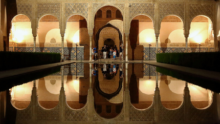 Reflections in the Alhambra of Granada
