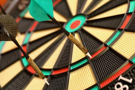 Darts with target Stock fotó