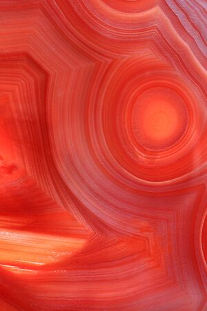 Detail of a red agate stone, salmon