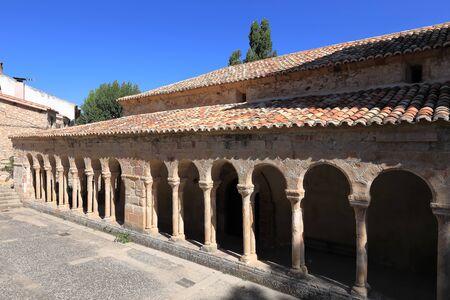 Arcaded gallery of the Church of El Salvador in Carabias (Guadalajara, Spain)