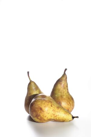 Two conference pears with white background